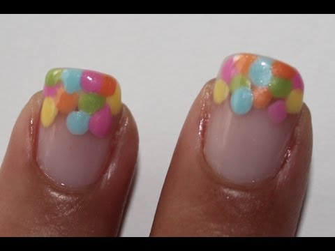 Summer dots nail art tutorial