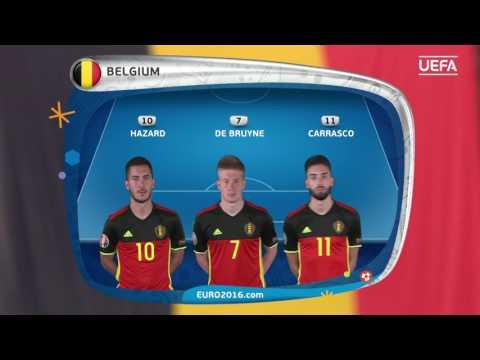 Belgium line-up v Sweden: UEFA EURO 2016