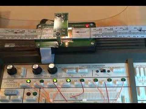 Vintage Punched Paper Tape Reader