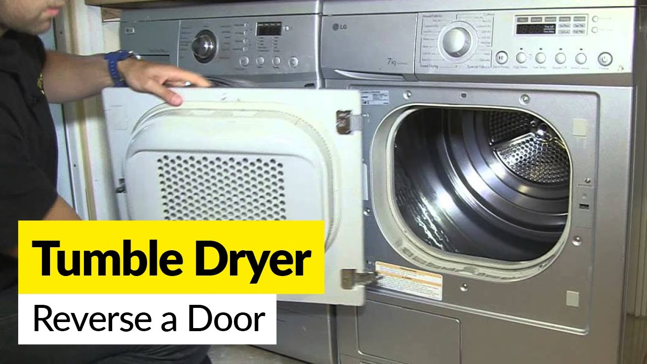 How To Reverse A Tumble Dryer Door Youtube