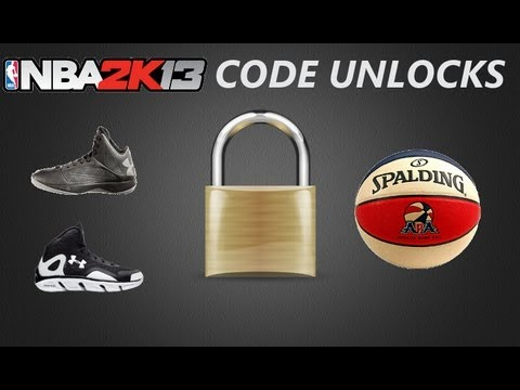 <b>NBA 2K13 Cheat Codes</b> Unlocks | ABA Ball - Torch Shoes - Spine ...
