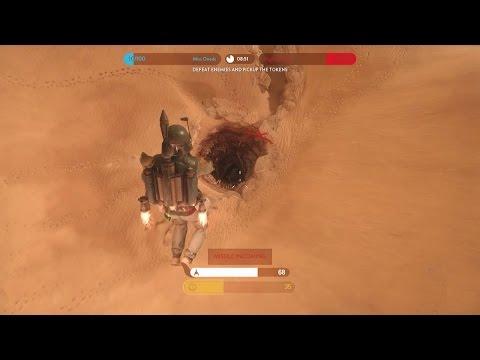 BOBA FETT Vs SARLACC PIT In Star Wars: Battlefront
