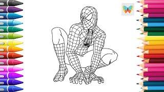Человек-паук | Рисуем Человека-паука | Учимся рисовать KidsColoring