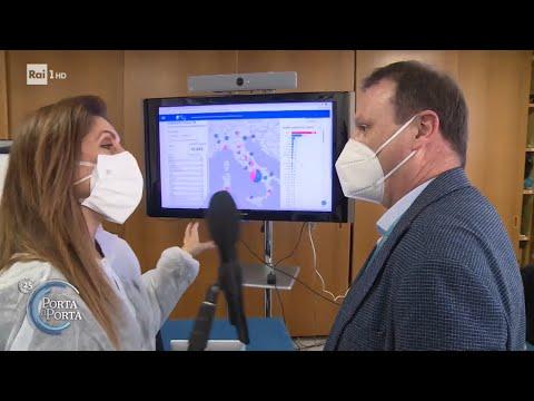Teramo, a caccia delle varianti del coronavirus - Porta a porta 15/04/2021