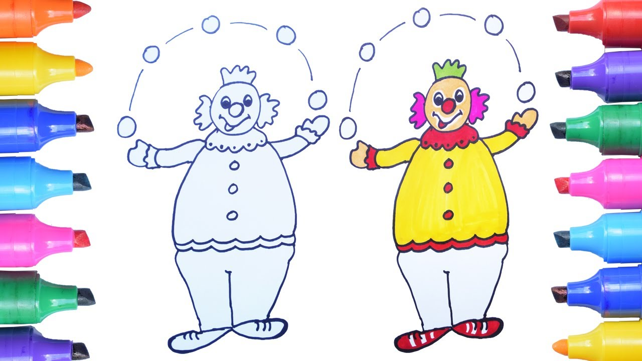 How To Draw A Colorful Clown Easily Step By Step Joker Drawing