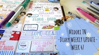 Midori Traveler's Notebook- Diary Weekly Update-WEEK 47-
