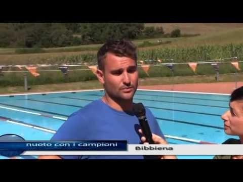 Bibbiena: tre campioni di nuoto alla piscina