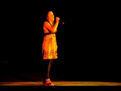 Katie at  age 12 at her talent show Damascus Middle School 2010
