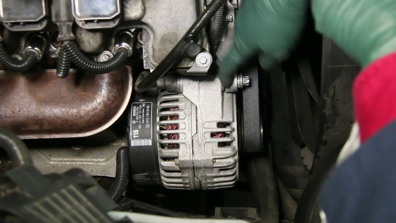 mercedes 1998 to 2006 alternator voltage regulator replacement tips [ 1280 x 720 Pixel ]