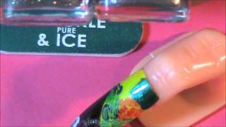 Trying out my new Crackle Pure Ice polish. Thumbnail