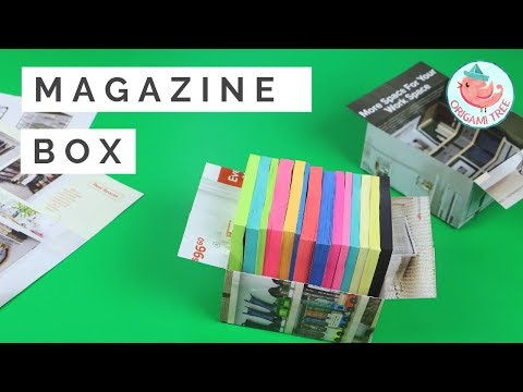How to Make a Box from Magazine Pages! Easy Recycling Paper Craft Idea