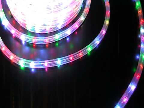 2 wires multi color led rope light wide loyal 1 youtube 2 wires multi color led rope light wide loyal 1 aloadofball Images
