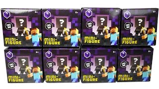 8 MINECRAFT Blind Boxes Obsidian Series 4 Unboxing Minecraft Surprise Toys by DCTC