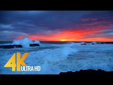 The Magic of Icelandic Coastline in 4K 60fps - Relaxing Nature Video - 10-Bit Color