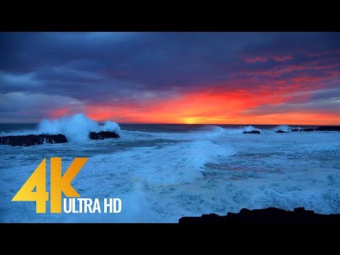 The Magic of Icelandic Coastline in 4K 60fps - Relaxing Nature Video - 10-Bit Color