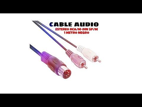 Video de Cable audio estereo RCA/M-DIN 5P/M 1 M Negro