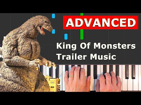 Godzilla: King of the Monsters - Trailer Music - piano tutorial easy (how to play) thumbnail