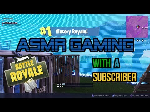 ASMR Gaming | Fortnite Duos With A Subscriber (15th Win) ★Controller Sounds + Whispering☆