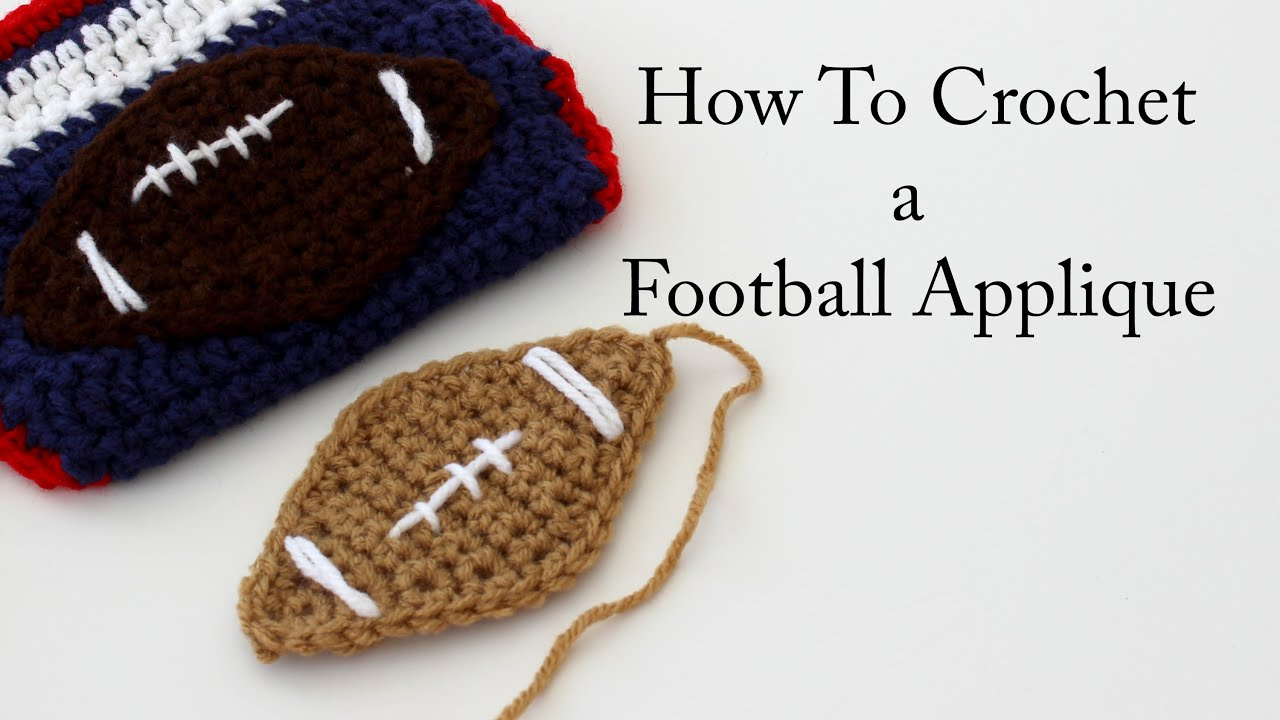 How to crochet a football applique youtube how to crochet a football applique bankloansurffo Choice Image