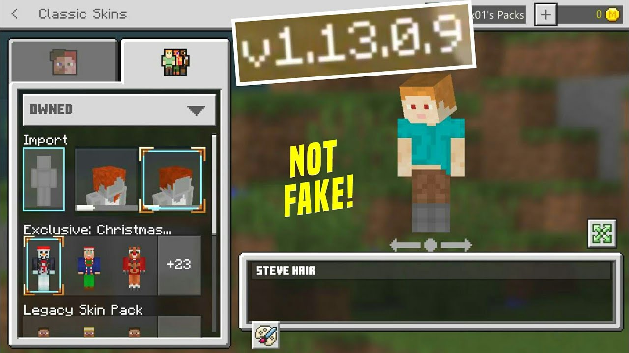 EDITOR DE SKIN SECRETO NO MINECRAFT PE 8.83.8.8 - Skin editor hidden in  Minecraft Bedrock 8.83.8.8 !