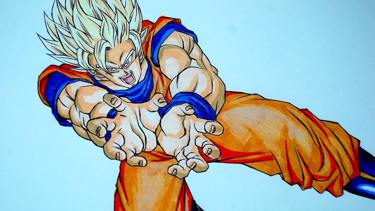 Drawing Goku Super Saiyan 2 SSJ2  YouTube