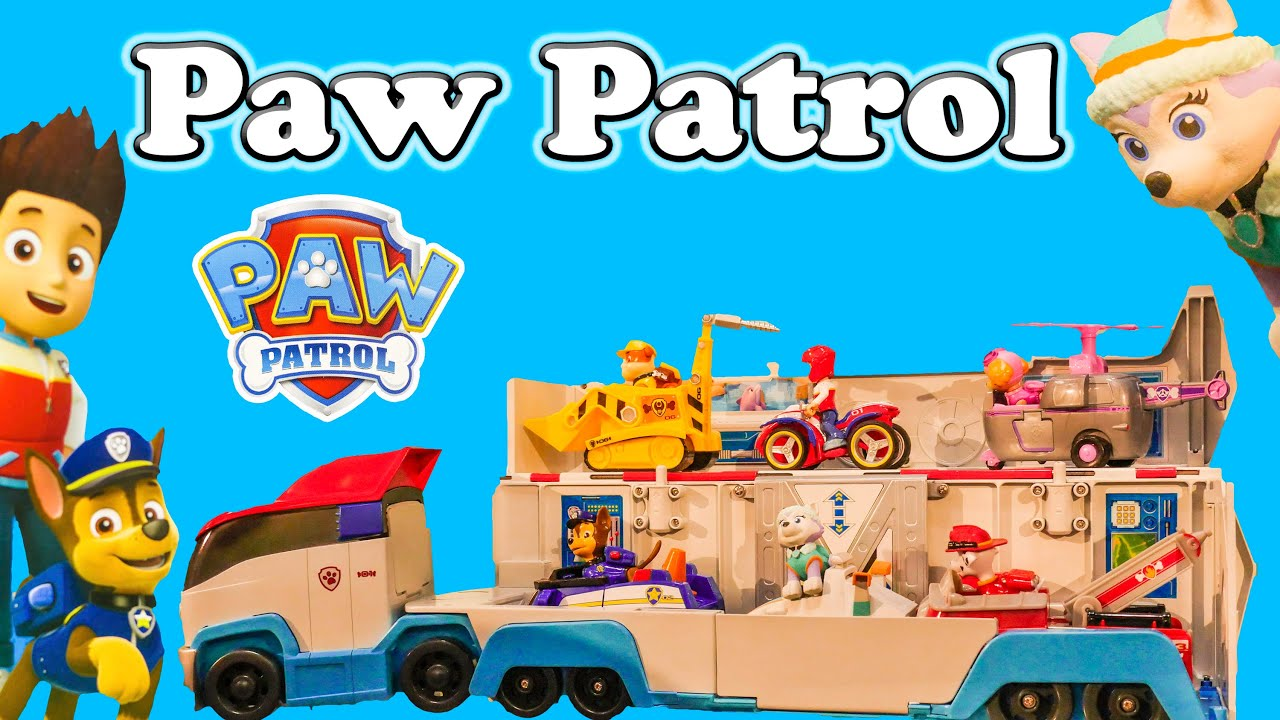 Paw patrol nickelodeon paw patrol toys with everest toys vide