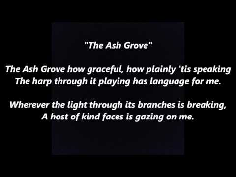 The Ash Grove words lyrics Welsh Wales best top popular favorite trending sing along song songs