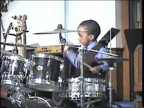 RJ'S DRUM RECITAL (AGE 6) PLAYING ISRAEL HOUGHTON'S SAVED BY GRACE