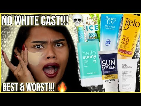 BEST and WORST SUNSCREENS FOR DARK SKIN AFFORDABLE and HIGH-END with NO WHITE CAST