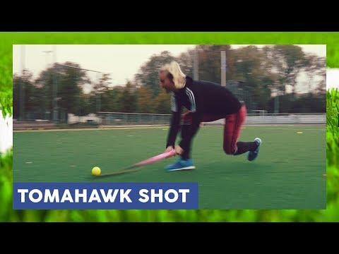 Tomahawk / Reverse / Backhand -shot high on goal - Field Hockey Technique | HockeyheroesTV