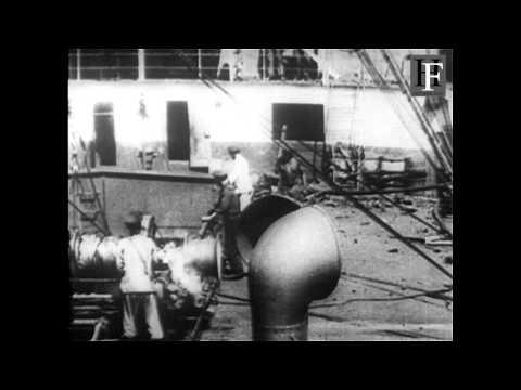 German battleships WW1 - Seekrieg 1914-1918 film (16mm)