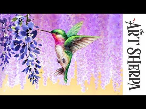 The Art Sherpa Hummingbird Painting