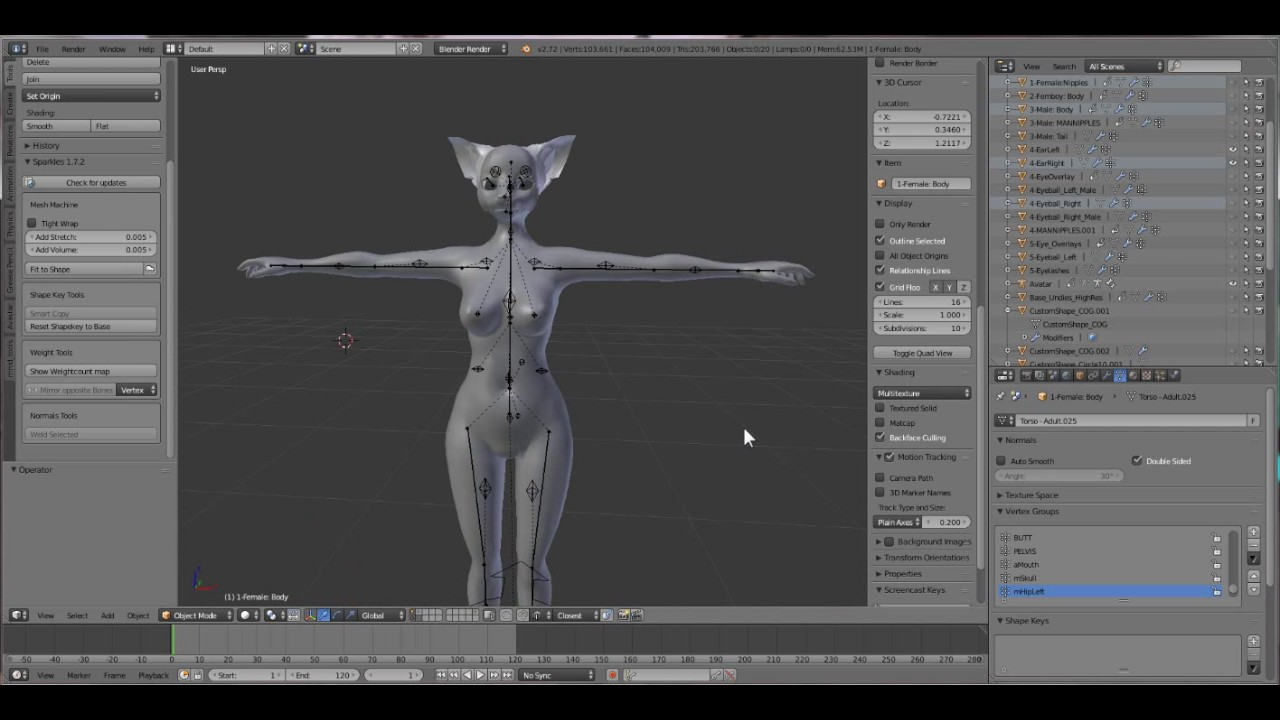 Let's make some clothes!: [Solarian Feline]- Step 1: Building the body