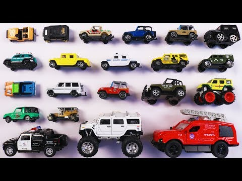 Learn Different Types of JEEPS and 4*4 Vehicles for kids Children Toddlers Babies | Educational toys