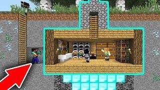 СЕКРЕТНЫЙ, ПОДЗЕМНЫЙ ДОМ С ЛОВУШКОЙ НА СКАЙ ВАРСЕ, ИГРОКИ БЫЛИ В ШОКЕ - Minecraft Sky Wars