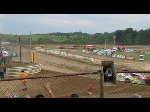 Muskingum County Speedway Modified Heat Race 07-03-2017