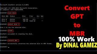 Cara merubah atau mengconvert file GPT to MBR tanpa menghapus partisi
