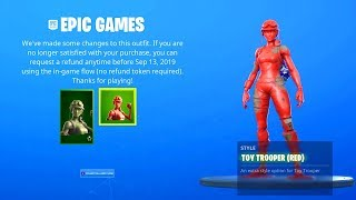 THE NEW TOY TROOPER STYLES IN FORTNITE!!! (FREE REFUND, NEW LOCKER POSES)