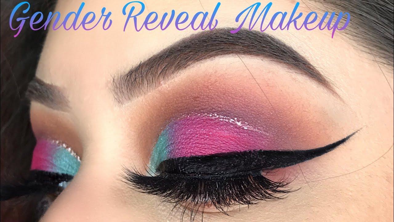 Gender Reveal Makeup Pink And Blue Makeup Youtube