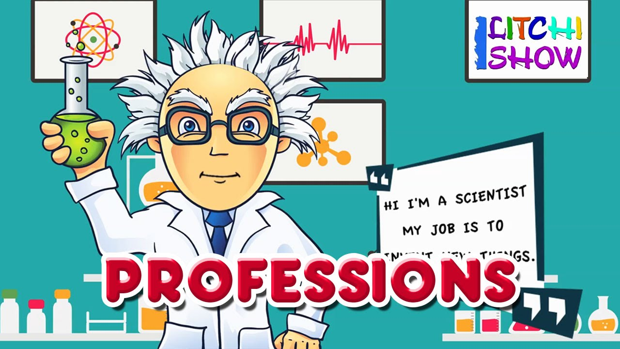 learn about jobs and professions for kids learning