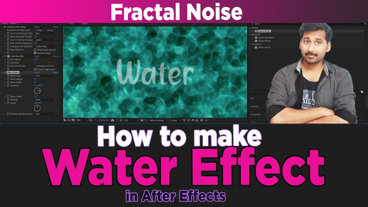 How to make Realistic Water Scene in After Effects - ADVANCED TUTORIAL