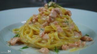 Fresh Salmon Tagliolini - Traditional Italian Recipe