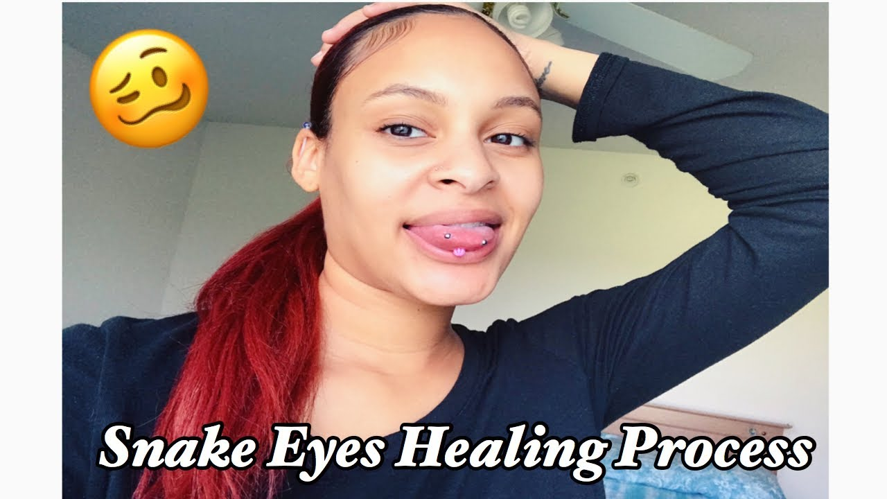 Snake Eyes Piercing 1 Week Update Healing Process Pain Level