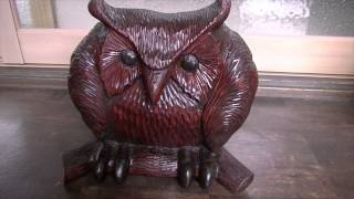 Wood Carving Work Number 14 Title,owl