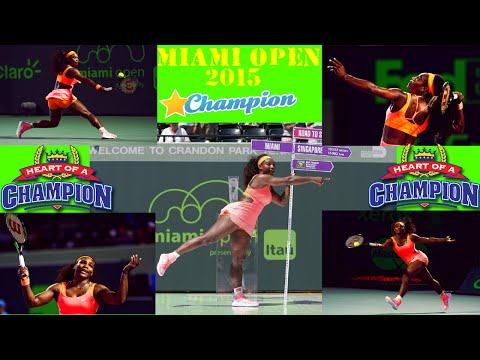 ᴴᴰ Serena Williams vs.Carla Suarez Navarro *Miami Open Finals*-2015 Highlights
