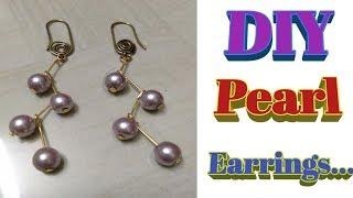 DIY Pearl Hanging Earrings
