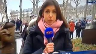 Hommage officiel à Charlie : BFM TV censure en direct sa journaliste