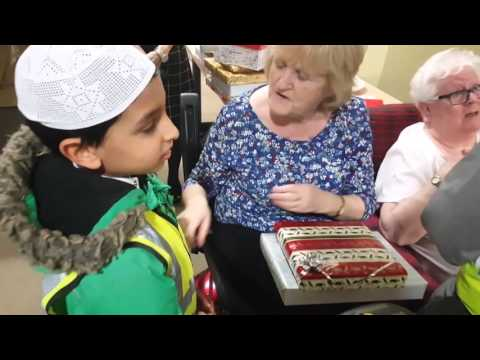 *** Muslim Children bring gifts and smiles to the elderly ***