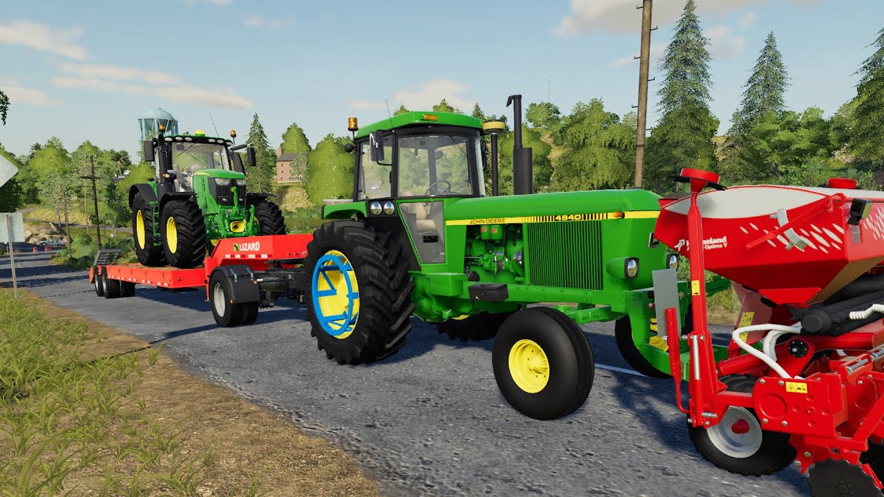 We're going shopping - John Deere on Tow Truck | Farm with variety of Tractors and Corn Planting
