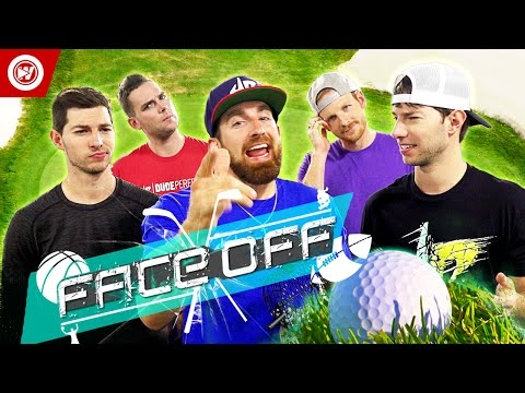 Thumbnail: Dude Perfect Office Golf Challenge | FACE OFF